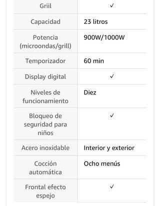 Microondas con grill - Orbegozo MIG 2038
