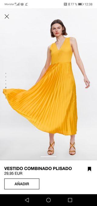 gran descuento venta comprando ahora nuevo alto Vestido combinado plisado Zara de segunda mano por 20 € en ...