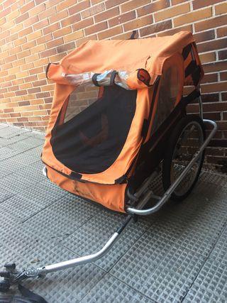 Carrito de bici para 2 niños