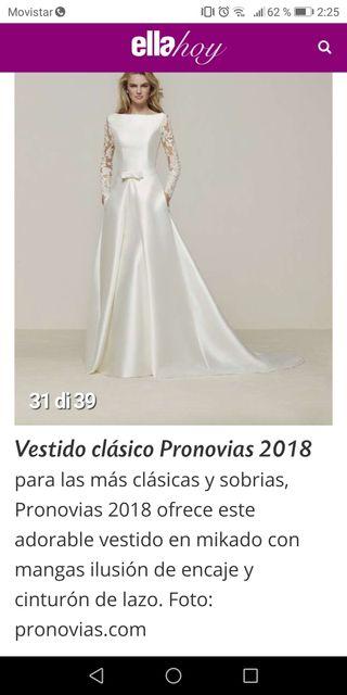 84f2356f37 Vestido de novia Pronovias de segunda mano en la provincia de Jaén ...