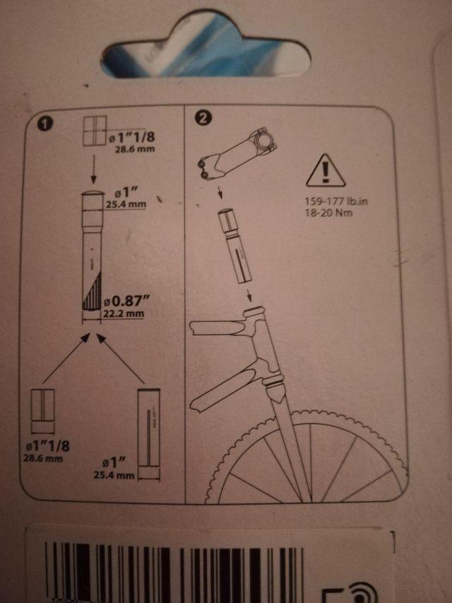 Prolongador manillar bici btwin