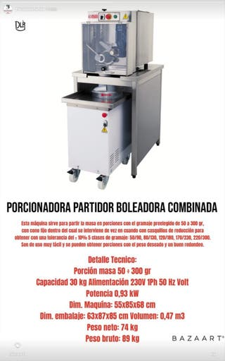 PORCIONADORA PARTIDOR BOLEADORA COMBINADA