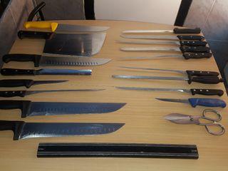 juego cuchillos charcutería carniceria