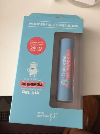 Batería externa wonderful sin estrenar