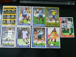 Cromos futbolistas Liga 2002