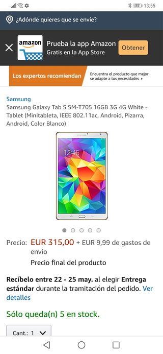 tablet Samsung galaxy tab s sm-t705