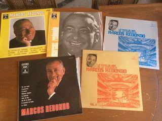 5 discos de vinilo Marcos Redondo