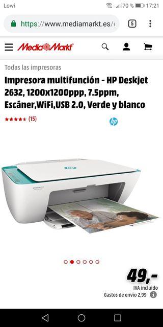 Impresora HP (modelo hp2632)