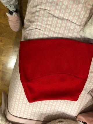 Minifalda Roja de Zara
