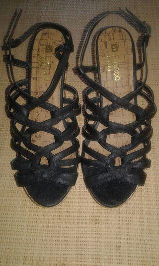 Sandalias cuña de Blanco