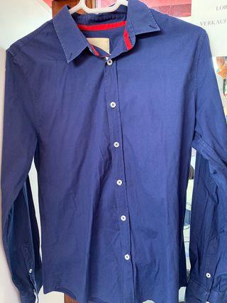 Camiseta Azul Botones. Ideal fiestas