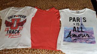lote de tres camisetas
