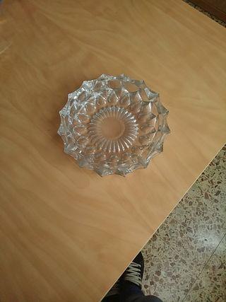 Cenicero cristal macizo con palillero a juego