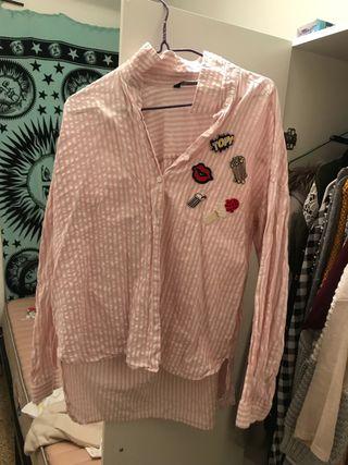 Camisa rayas blancas y rosas