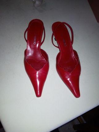 sandalia roja d Pablo herrero