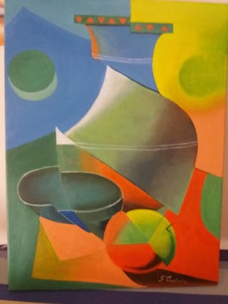 cuadro al óleo en lienzo