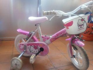 bicicleta de hello kitty