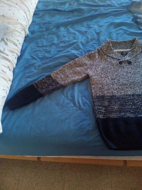 jersey hombre inside gris y azul