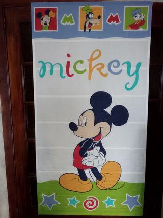 cortina infantil enrollable del mickey