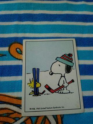 Cromo antiguo de Snoopy