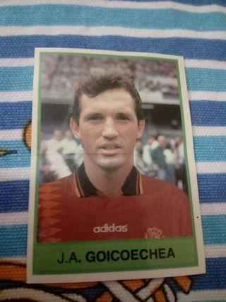 Cromo Goikoechea de Bollycao del Mundial EEUU 1994