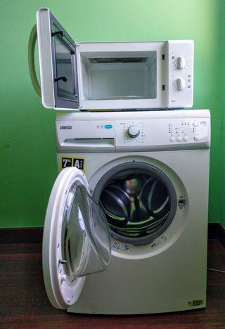 lavadora + microondas!!!