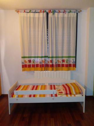 Cortina y colcha para habitación infantil