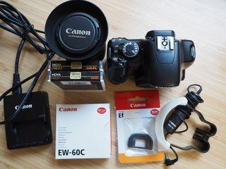 Vendo Canon EOS 450D con objetivo y extras