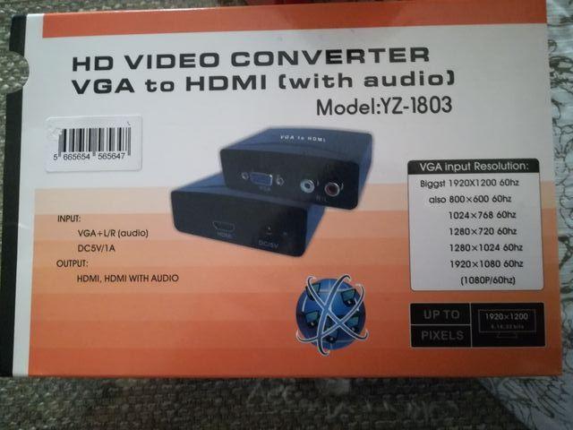 CONVERSOR DE VGA A HDMI CONVERTIDOR Y CABLE VGA