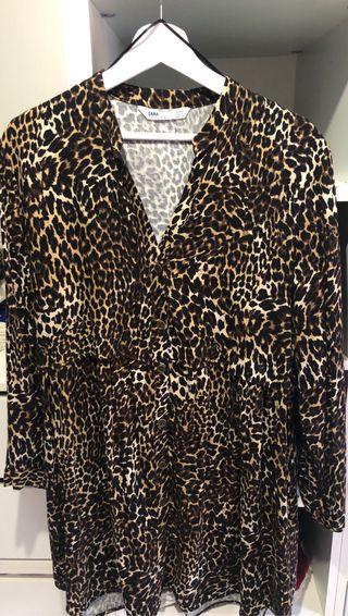 Vestido camisero leopardo Zara nuevo