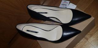 Zapatos tacón salón Zara talla 39 seminuevos