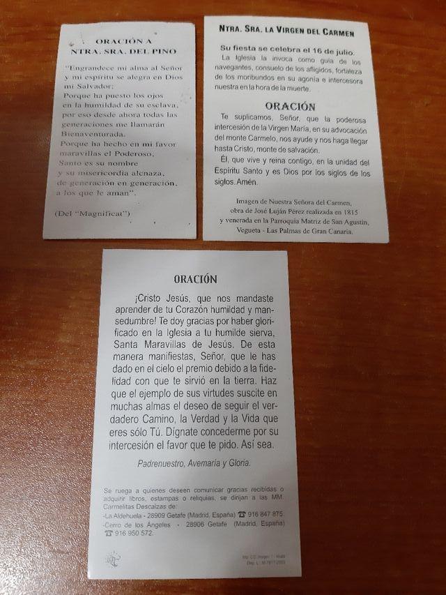 3 Estampas Religiosas distintas