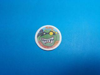 cromo premio tela parche tortugas ninja