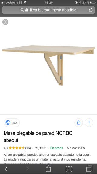 Mesa abatible pared de segunda mano en WALLAPOP