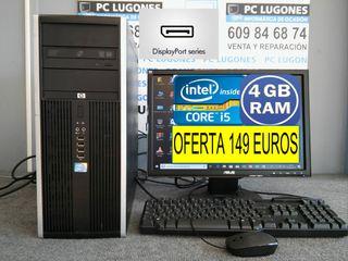 ORDENADOR HP CORE i5 CON 4 GB RAM DISPLAY PORT 4K