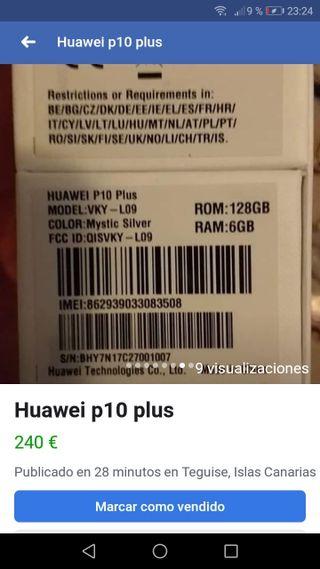 Huawei p10 plus es negociable acepto cambios