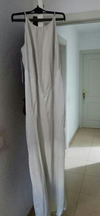 vestido mango seda natural nuevo a estrenar