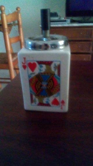 cenicero cartas de poker grande