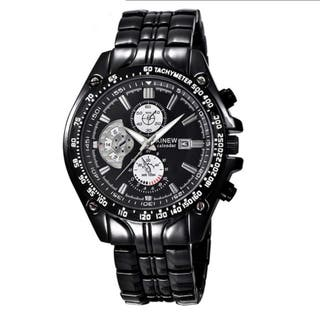 Reloj acero negro maquina japonesa