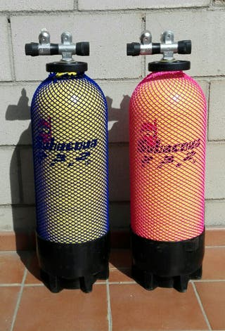 Botellas de submarinismo.