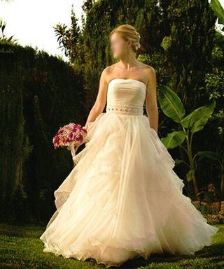 vestido novia T.42-44 Rosa Clará