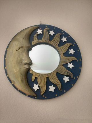 Espejo étnico sol y luna