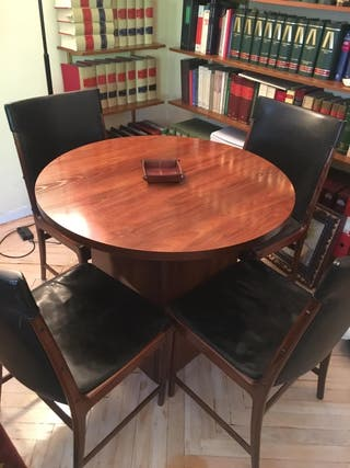 Mesa despacho redonda de segunda mano en wallapop for Sillas despacho segunda mano