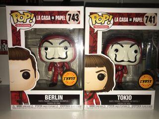 Funko pop Chase Tokio y Berlin