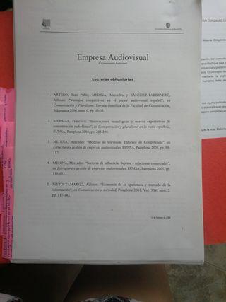 EMPRESA AUDIOVISUAL. APUNTES LIBROS
