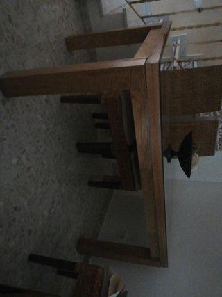 Mesa 1,60 de madera de mango