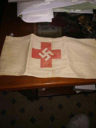 Brazalete cruz roja ejército alemán segunda guerra
