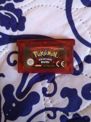 Pokémon edición rubí GBA