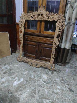 Talla marco de madera maciza, hecho a mano