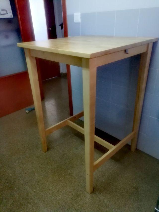 Mesa alta de cocina Ikea de segunda mano por 45 € en Almussafes en ...